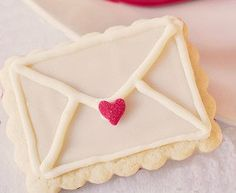 Valentine **Special** Love Letter Note Cookies Etsty seller that comes with a tiny envelope, a sweet note for mail art fans :)