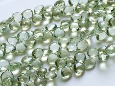 Green Amethyst Beads Natural Green Amethyst by gemsforjewels