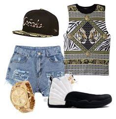 """""""KickBack K.I.C"""" by killaincontrol ❤ liked on Polyvore featuring Ravel, Forever 21 and Michael Kors"""