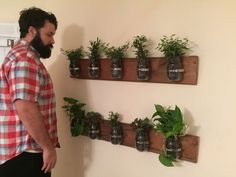 Mason jar planters - could be the basis for herb pots made out of excess mugs.   http://www.instructables.com/id/Mason-Jar-Planter/--- I AM MAKING THESE FOR MY DINING ROOM...