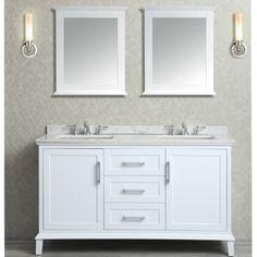 "Ariel by Seacliff Nantucket 60"" Double-Sink Bathroom Vanity Set - Ariel Bath"