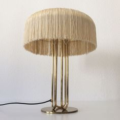 DESIGNED BY HANS-AGNE JAKOBSSON. MANUFACTURED BY MARKARYD, SWEDEN IN 1950s. Up for sale an extremely rare, large and elegant mid century modern table lamp with silk fringes. Designed by Hans-Agne Jakobsson for Markaryd, Sweden, 1950s. | eBay!