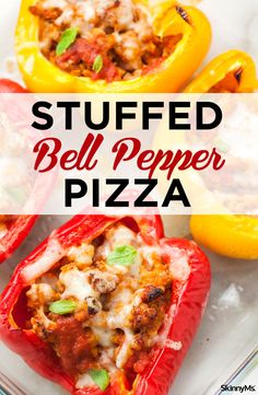 """Healthy Recipes Using a bell pepper as the """"crust"""" for our stuffed bell pepper pizzas makes this recipe completely Keto- and Paleo-friendly! Skinny Recipes, Paleo Recipes, Healthy Dinner Recipes, Low Carb Recipes, Easy Recipes, Healthy Cooking, Healthy Tips, Healthy Food, Healthy Eating"""