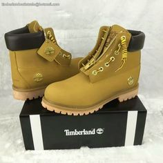 Timberland Authentic 6 Inch Boot - Wheat and Black For Men with Zipper