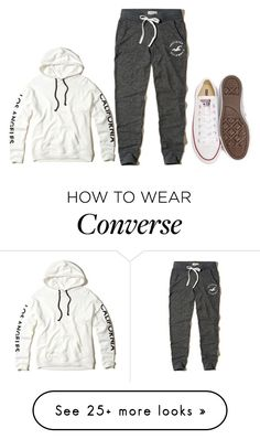 """""""19"""" by jaliyahk on Polyvore featuring Hollister Co. and Converse"""