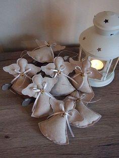vánoční dekorace Christmas Sewing, Christmas Wood, Diy Christmas Ornaments, Christmas Decorations To Make, Christmas Angels, Christmas Stockings, Christmas Wreaths, Angel Crafts, Diy And Crafts