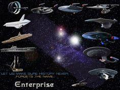 The USS Enterprises Starships