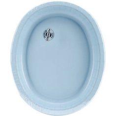 Oval Platter, 10 inch x 12 inch, 8pk, Blue