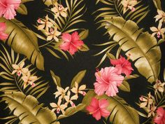 Tropical Barkcloth Fabric SHOWER CURTAIN~Hamakua-Ebony~ | eBay