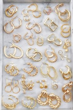 Ear Jewelry, Dainty Jewelry, Cute Jewelry, Gold Jewelry, Jewelry Accessories, Fashion Accessories, Fashion Jewelry, Jewelry Design, Accesorios Casual