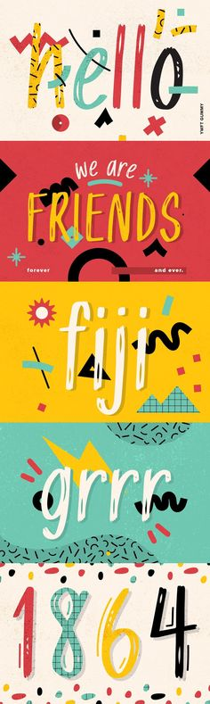 YWFT Gummy - YWFT Gummy is a ridiculously friendly display font that marches to the beat of its own drum. Handwriting Styles, Handwriting Fonts, Web Design Websites, Party Flyer, Party Party, Typography Design, Lettering, Creative Class, You Loose