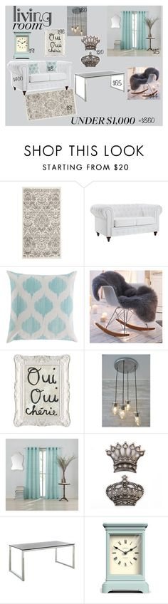 """Antique Chic"" by babylaci ❤ liked on Polyvore featuring interior, interiors, interior design, home, home decor, interior decorating, Safavieh, Dot & Bo, Lucca Couture and Newgate"