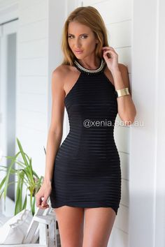 Make It Mine Dress-Front1,Black