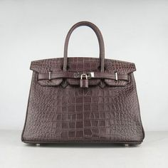 Hermes Birkin 30CM Big Crocodile black coffee bag