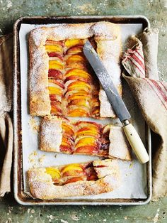 Peach Tray Tart via Donna Hay #recipe