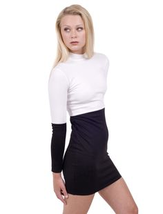 classic black & white slim fitted bodycon