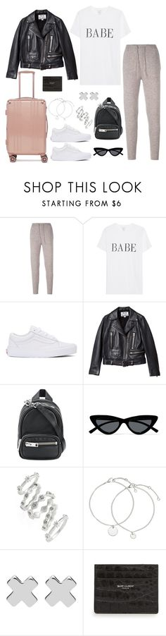Untitled #5280 by theeuropeancloset on Polyvore featuring Acne Studios, Le Kasha, Vans, CalPak, Alexander Wang, Luv Aj, Witchery, Le Specs and Yves Saint Laurent