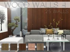The Sims Resource: Wood Walls 4 by PralineSims • Sims 4 Downloads