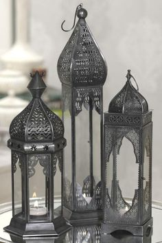 FLOWERS & DECOR-- Moroccan Lanterns in the trees. Moroccan Lighting, Moroccan Lamp, Moroccan Bedroom, Moroccan Lanterns, Moroccan Interiors, Moroccan Theme, Moroccan Design, Moroccan Style, Lantern Lamp