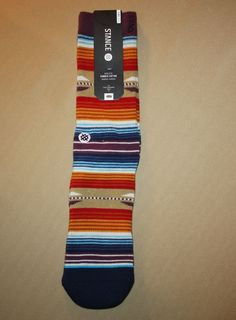"STANCE SOCKS MEN'S SIZE S/MD ATHLETIC COMBED COTTON ""JUAREZ"" MEDIUM CUSHION #Stance #Athletic #Socks #Mens"
