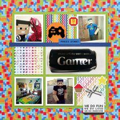 Family Album 2014: Tristan as Steve layout by Tina Shaw | Pixel Scrapper digital scrapbooking