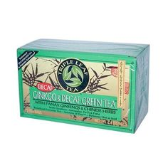Triple Leaf Tea Ginkgo And Green Tea Decaffeinated - 20 Tea Bags - Case Of 6 *** Details can be found by clicking on the image. (This is an affiliate link) #GreenTea