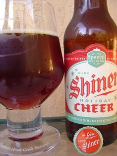 Shiner Holiday Cheer is my favorite beer right now. The bottles will make your refrigerator 60 percent more Christmasy.
