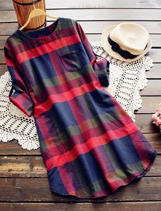 In love and love. With Pavacat Walk the Shine Plaid Shirt Dress