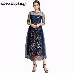 2017 Spring Summer New Embroidery Dresses Beach Mesh Women Black Floral Sexy Fashion Vintage Party Long Dress Vestidos mujer #Spring summer http://www.ku-ki-shop.com/shop/spring-summer/2017-spring-summer-new-embroidery-dresses-beach-mesh-women-black-floral-sexy-fashion-vintage-party-long-dress-vestidos-mujer/