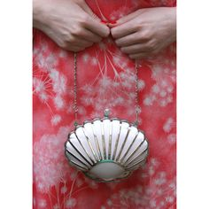 Vintage inspired 1930s Art deco style clam shell evening clutch bag... ($65) ❤ liked on Polyvore featuring bags, handbags, clutches, vintage style handbags, hand bags, vintage handbags, evening clutches and evening handbags clutches