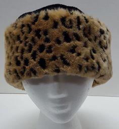 d1b2703d7ab Betmar New York Black Hat Faux Fur Leopard Print Trim One Size   Betmarnewyork  Bucket