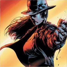 The Question II . . . aka Renee Montoya, hard hitting lesbian ex-cop.  Former love interest of Batwoman