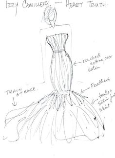 68 best sketchy images fashion drawings fashion illustrations Women's Clothing Ads Vintage the heart truth fashion show red dress sketch by designer izzy camilleri 2011 dress