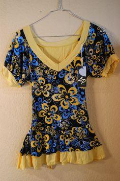 Damen  Top / t-shirt  Gelb  Gr. M