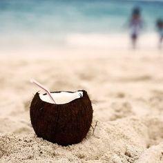 Chrisi's Coconut Cocktail    Ingredients:  2 1/2 c. water  2 1/2 c. sugar  6 oz frozen lemonade  6 oz frozen OJ  48 oz pineapple juice  2 liter ginger ale  1 pint coconut rum
