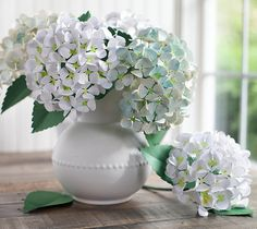DIY Blue Paper Hydrangea Flowers by Lia Griffith. Make It Now with the Cricut Explore and Print then Cut feature in Cricut Design Space