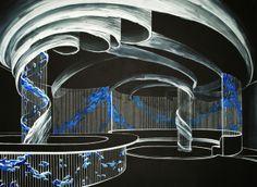 Glass interior project by Ayana Shoubtsova, via Behance