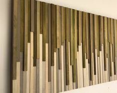 Wall Art - Wood Wall Art - Rustic Wood Sculpture Wall Installation 46X22