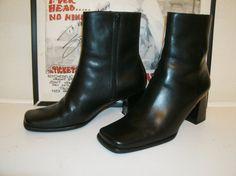 NINE WEST Black Leather // Motorcycle // Rocker by kellyshippyhut, $48.00
