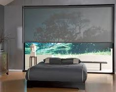 Grey Solar Shade For The Perfect Modern Bedroom