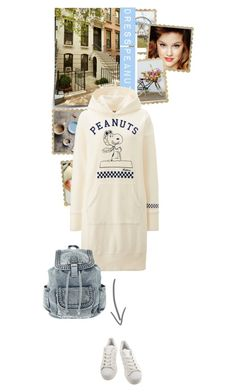 """dress Peanuts"" by nukslucks ❤ liked on Polyvore featuring Uniqlo, adidas and dress"