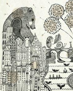 Cool bear drawing
