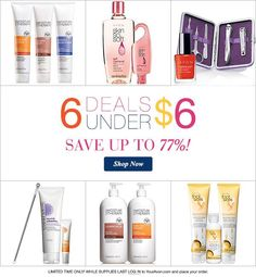 6 deals for under $6! go to www.youravon.com/jfaris and get free shipping on a $25 order (direct delivery only)