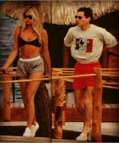 Ayrton Senna e Adriane Galisteu em Bora Bora