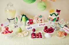 Very Hungry Caterpillar Party. Ava's 3rd birthday party?! She loves this book!