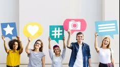 Friends Holding Up Thought Bubbles With Social Media Concept Icons Instagram Likes And Followers, Instagram Popular, Thought Bubbles, Mode Shop, Create Awareness, Marketing Professional, Social Media Icons, Things That Bounce, Hold On