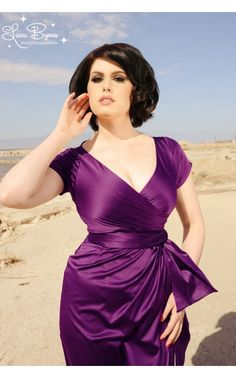 Pinup Couture - Ava Dress in Plum | Pinup Girl Clothing