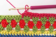 Crochet Along Babydecke Teil 10 Reihe 10 - schoenstricken.de