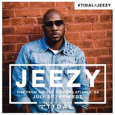 #Repost @defjamrecords  #TIDALXJEEZY tune in to the live stream tonight at 9PM EST on @Tidal #bmg #supersaturday