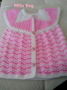 Örgü kız bebek yeleği yapılışı #crochet #knit #knitting #skirt #orgu #örgü…